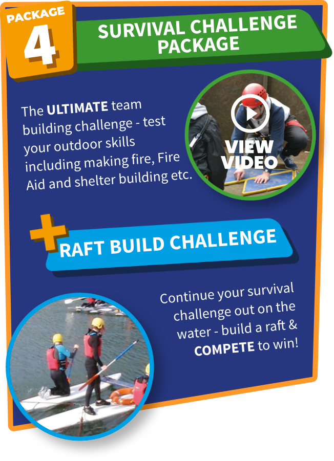 Survival Challenge and Raft Build at Carlingford Adventure